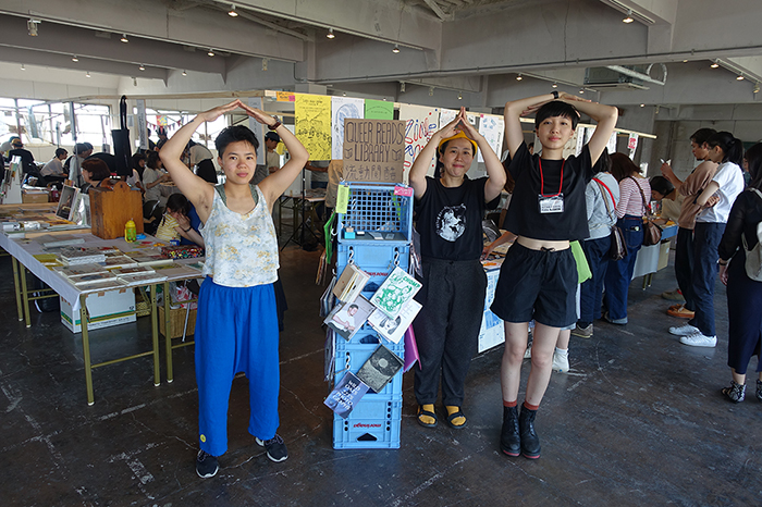 27 / 5 / 2019  Thanks to  Kitakagaya Flea  for the perfect weekend of eating curry, talking about comics, books and zines and meeting new queer readers. Special thanks to Takaki-san for the curry crates.