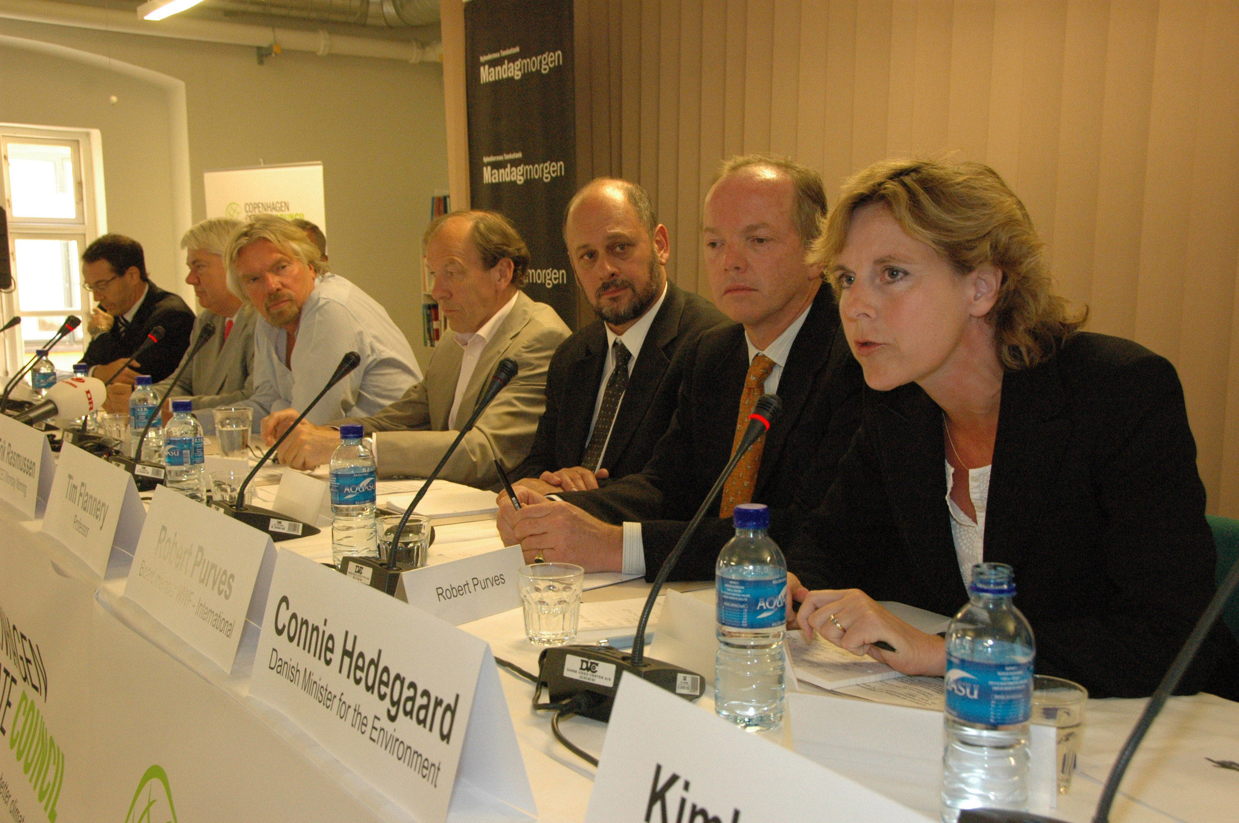 First Pressconference launching the Copenhagen Climate Council, May 2007