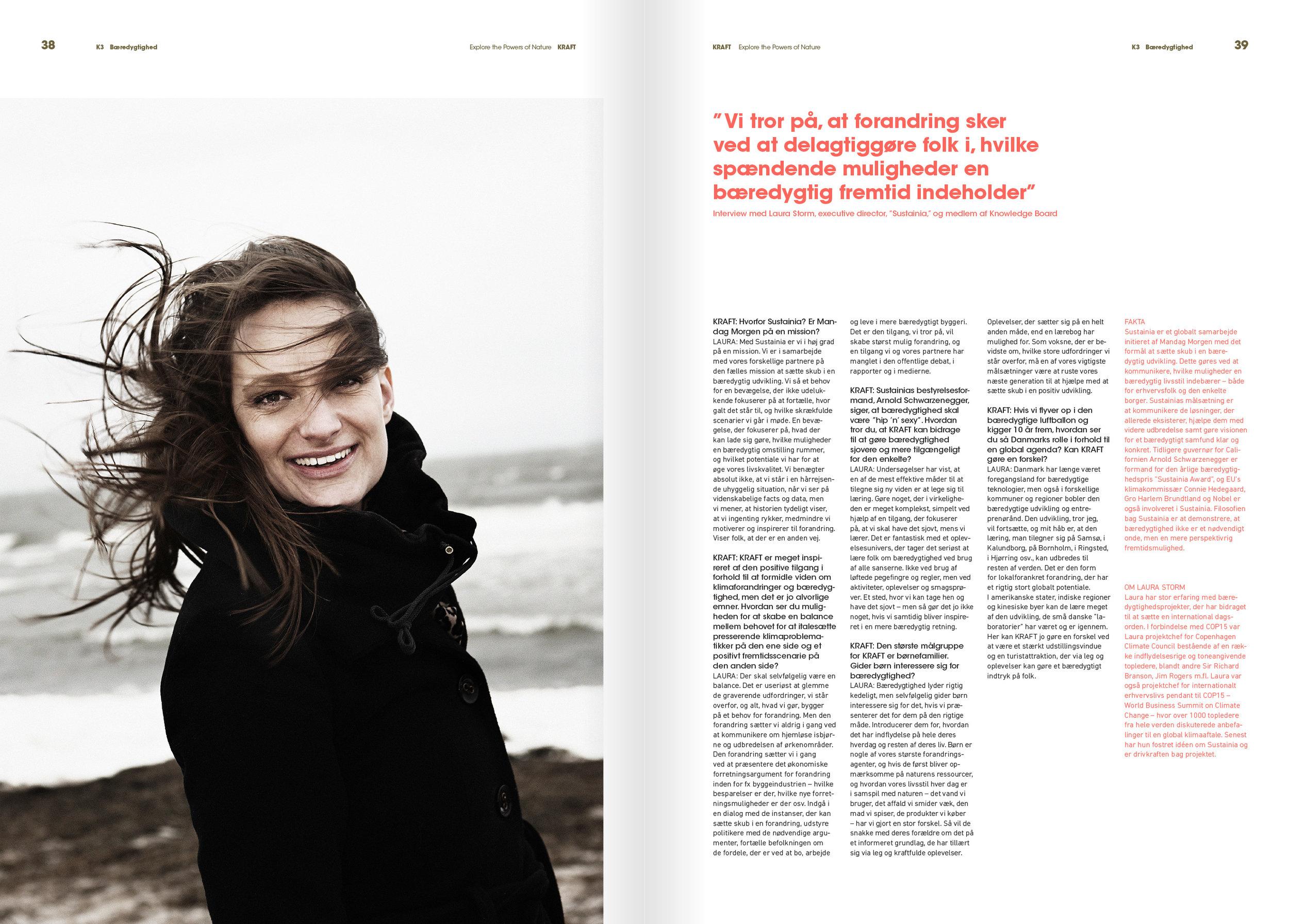 Interview in Kraft Magazine, 08 2013