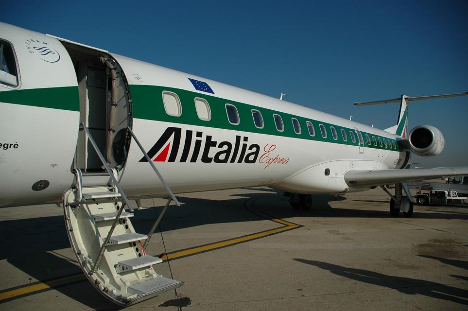 FCO Rome Fiumicino Airport - Alitalia Express Embraer aircraft 01 3008x2000.jpg