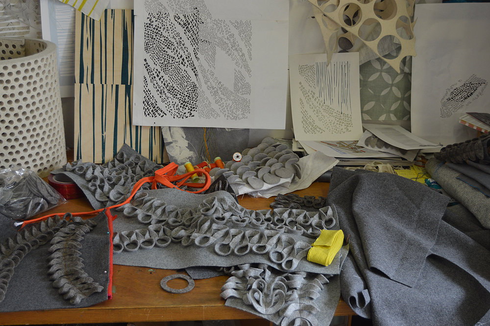 My desk during the design process!