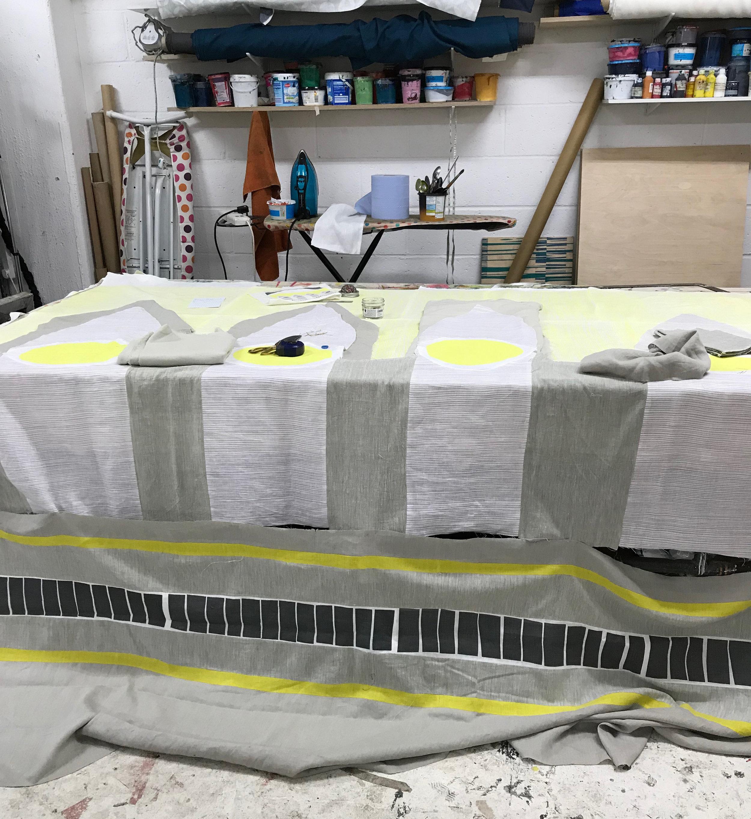 Arches quilt in studio.jpg