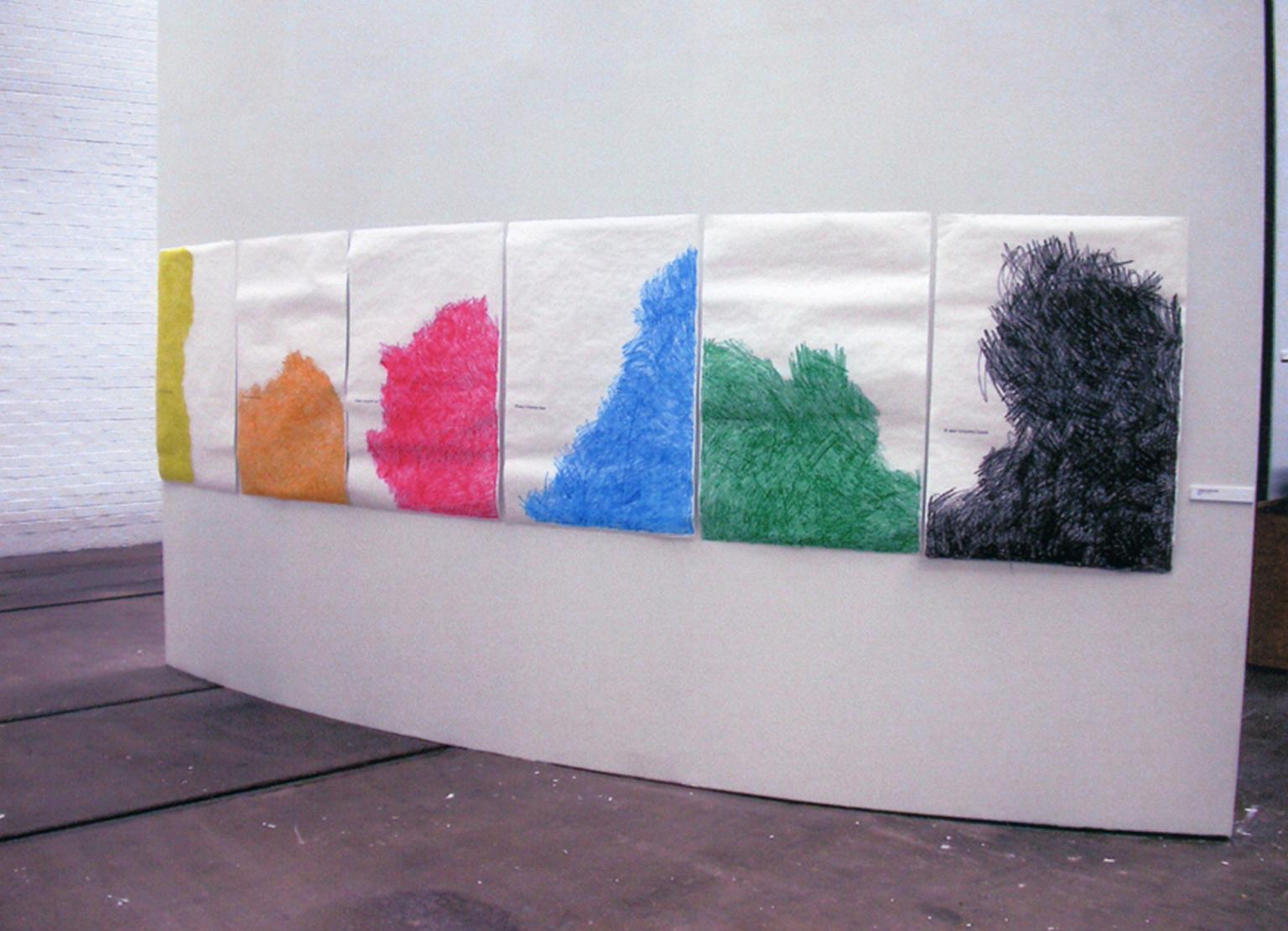 Six Wax Crayons, 2002, Tramway.