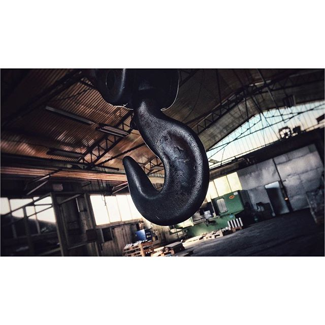 The hook #hook #chain #industry #industrial #hall #metal #daylight #windows #dirt #sony #sonyfs7 #djironin #cinematography #photooftheday #picoftheday #tbt #contrast