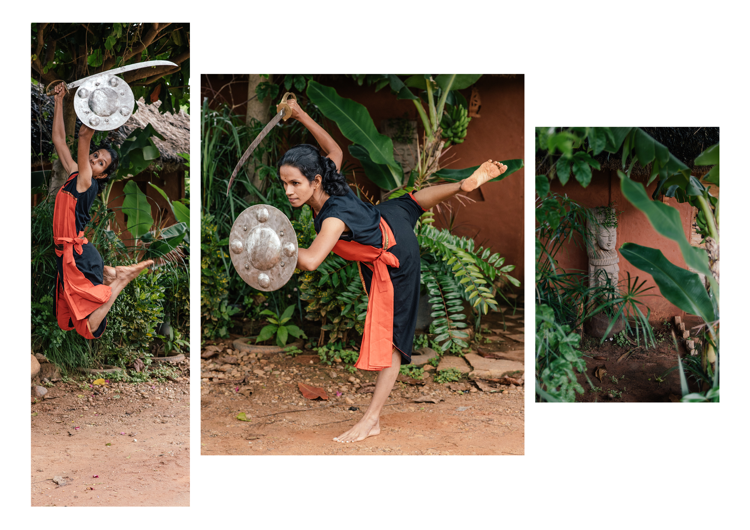 Strength, balance , grace and poise all combine in Kalari.