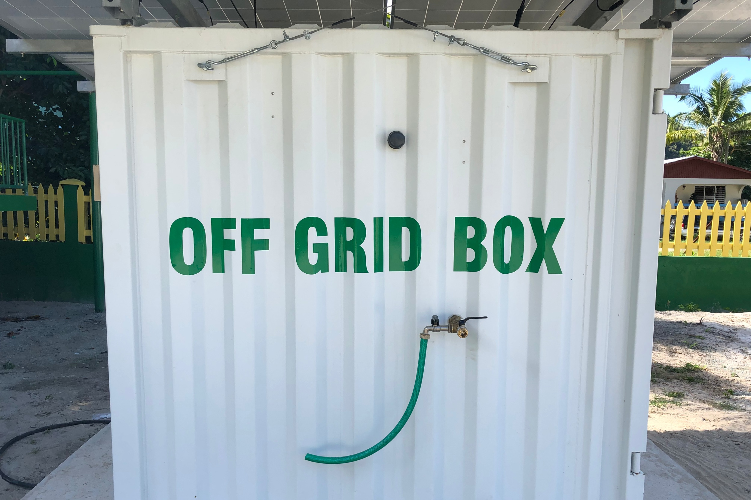 Virgin Islands Off Grid Water Electricity Box