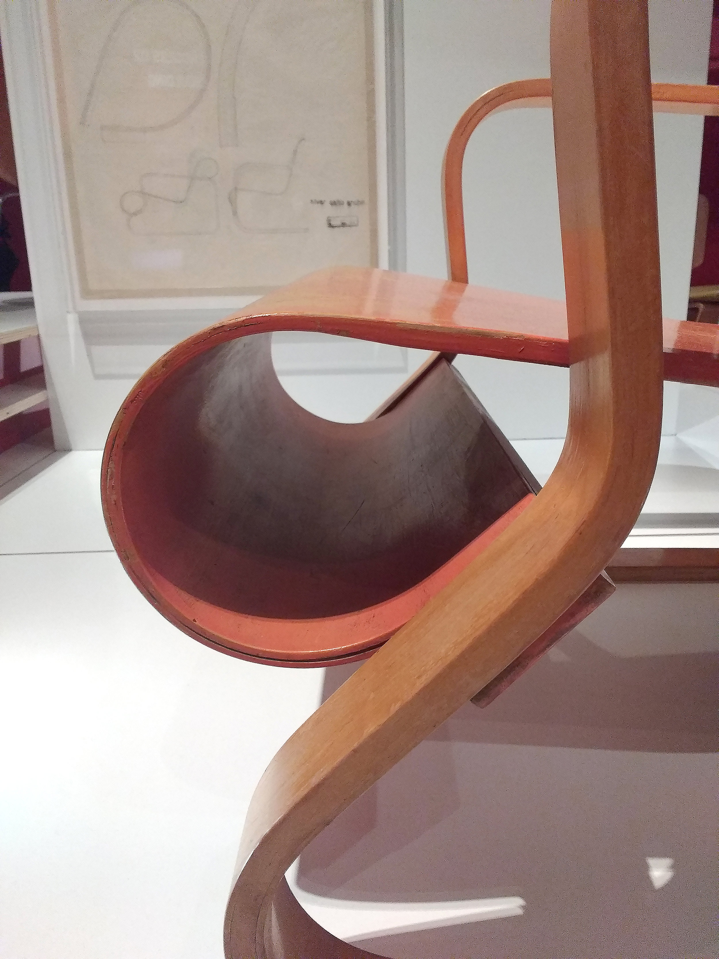 Close up of Armchair, by Alvar Aalto