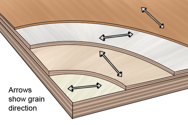 Grain directions via  Plywood Inspection