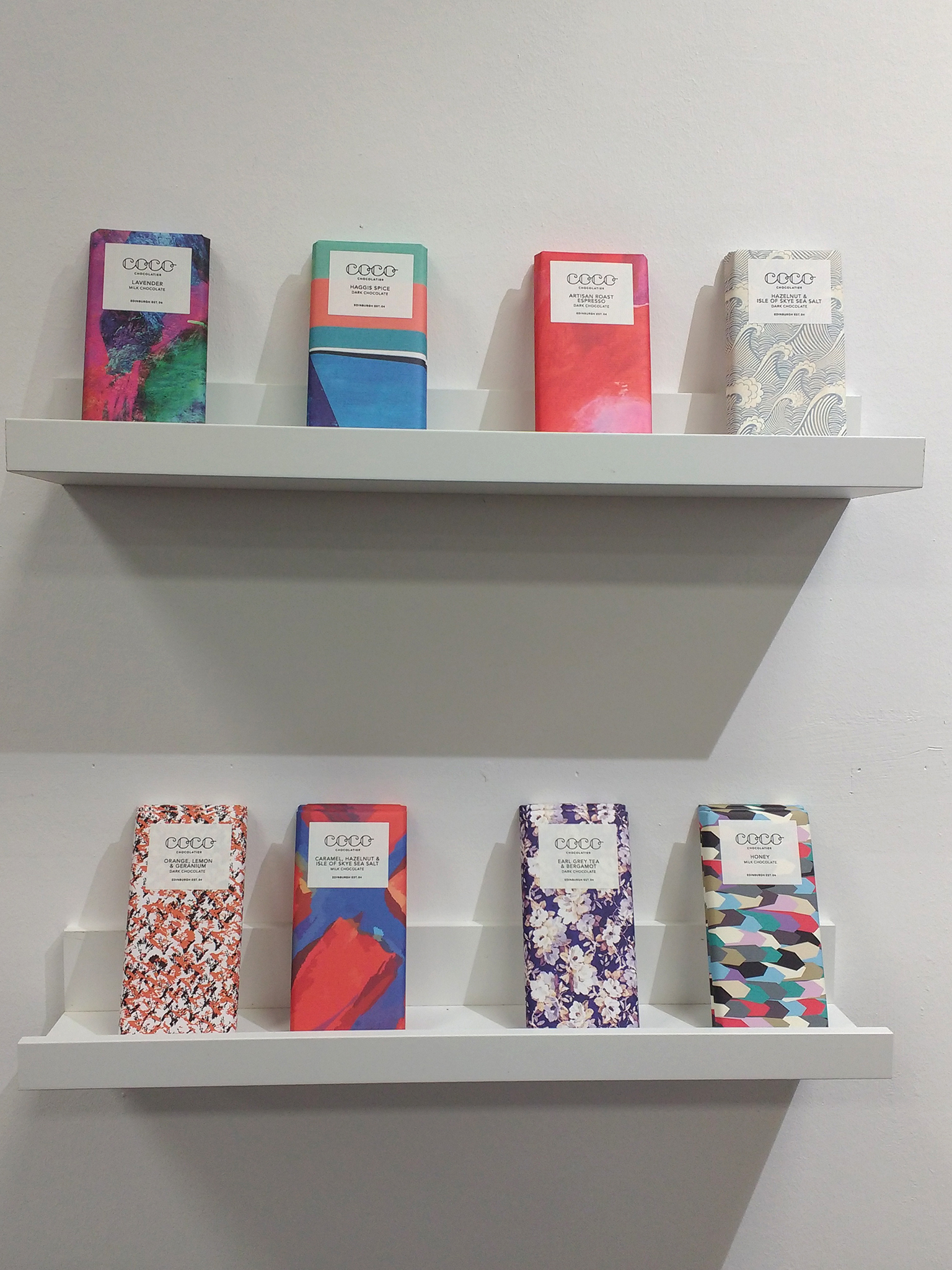 A selection of single origin chocolate bars at Top Drawer