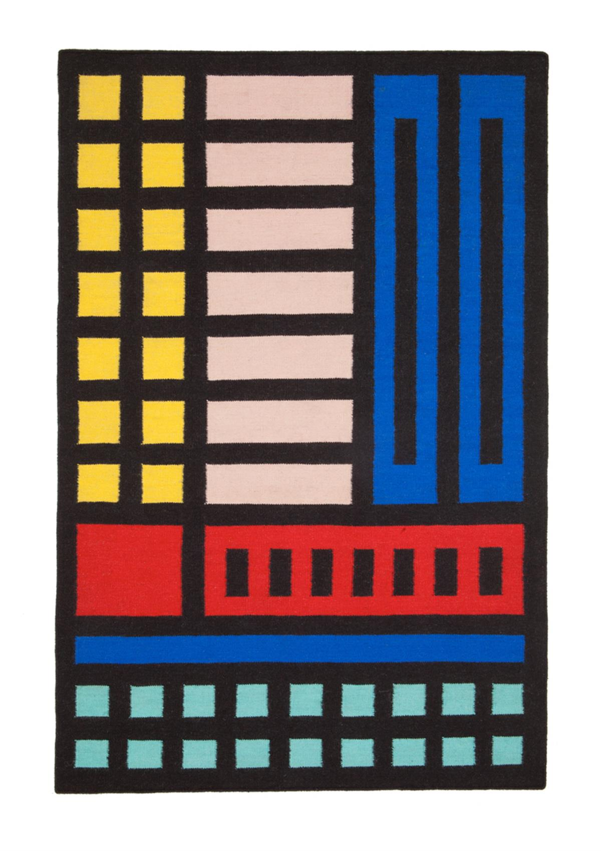 Buildings come true  Rug by Camille Wall at A Floor Story, £375