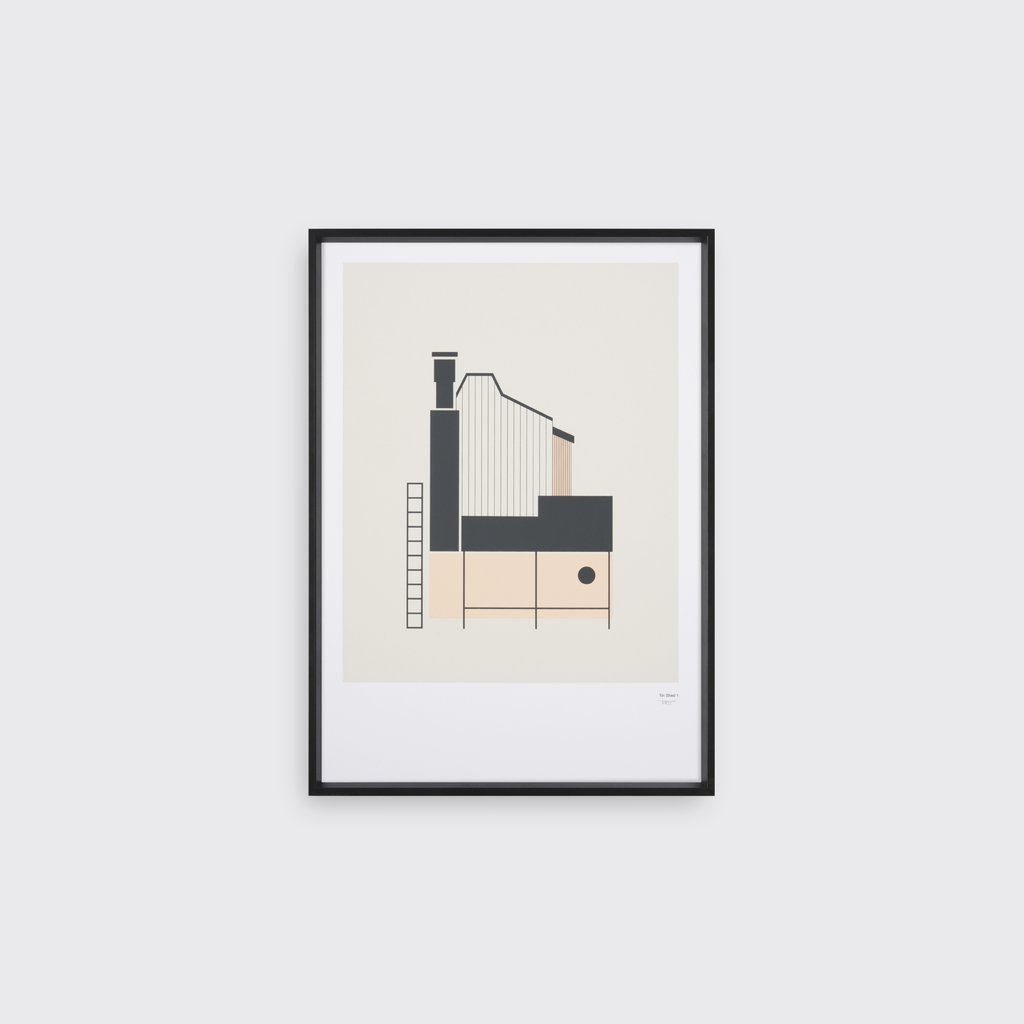Tin Shed 1  Print by Tom Pigeon, £40 Unframed