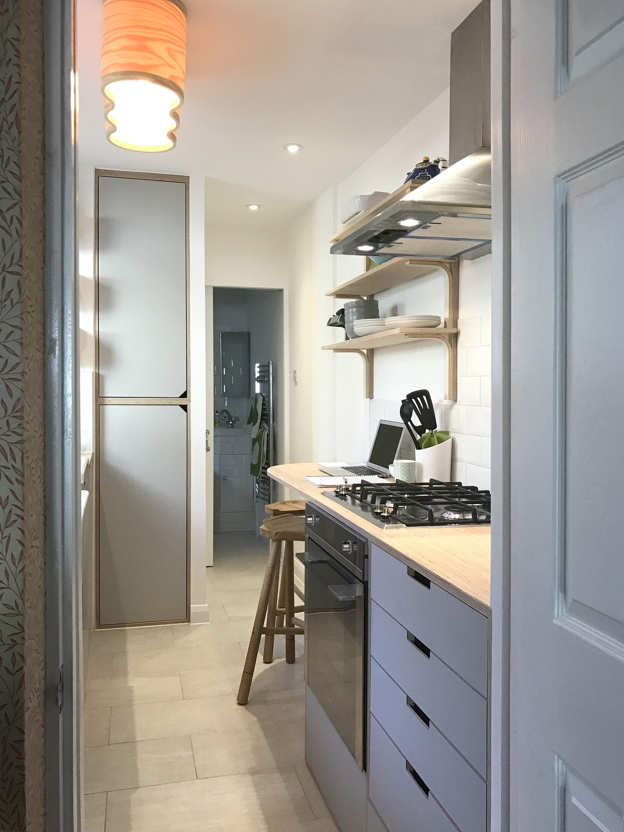Georgina's plywood kitchen in Richmond, designed by Lozi