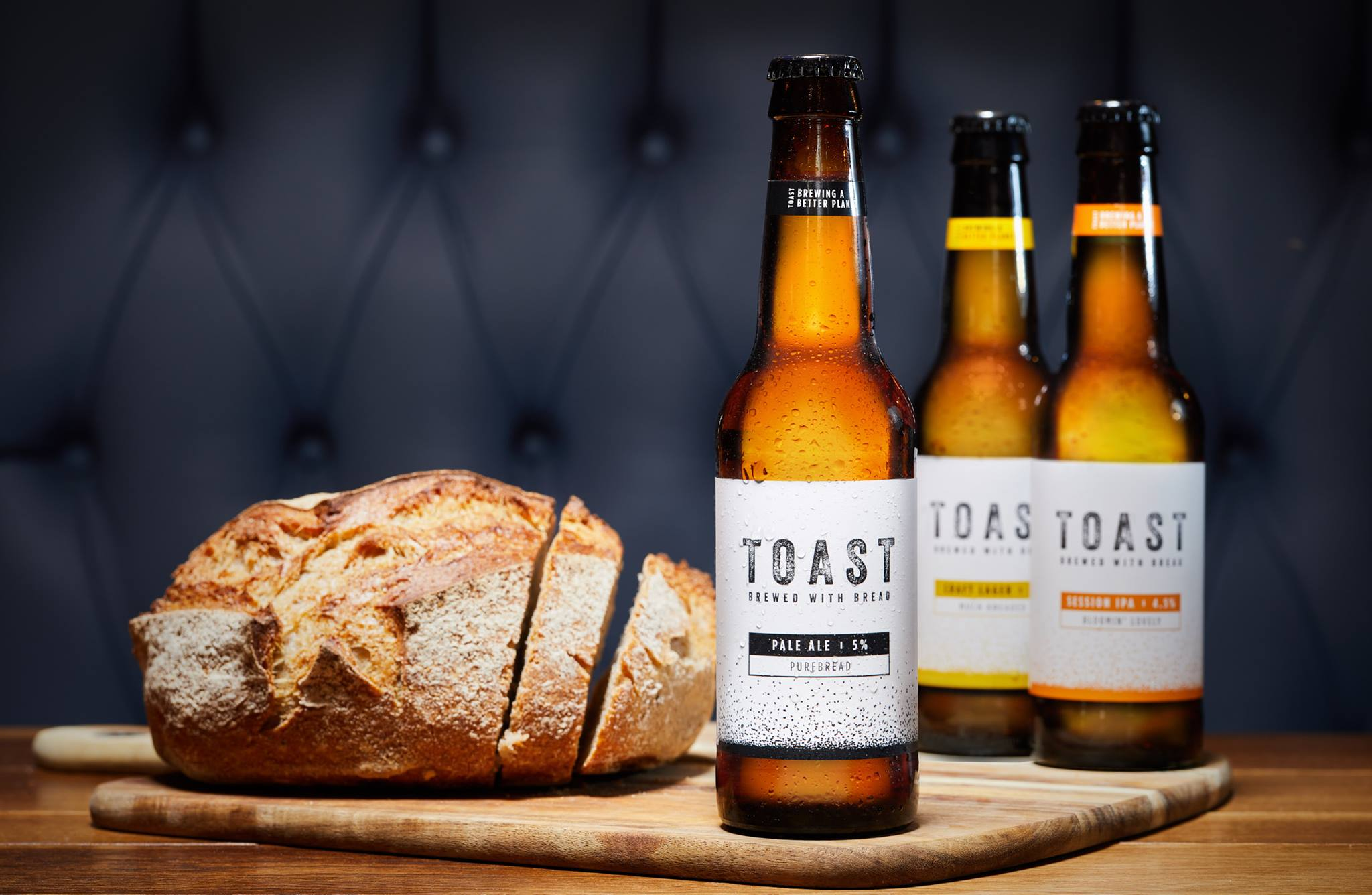 Toast Ale is made from surplus bread.