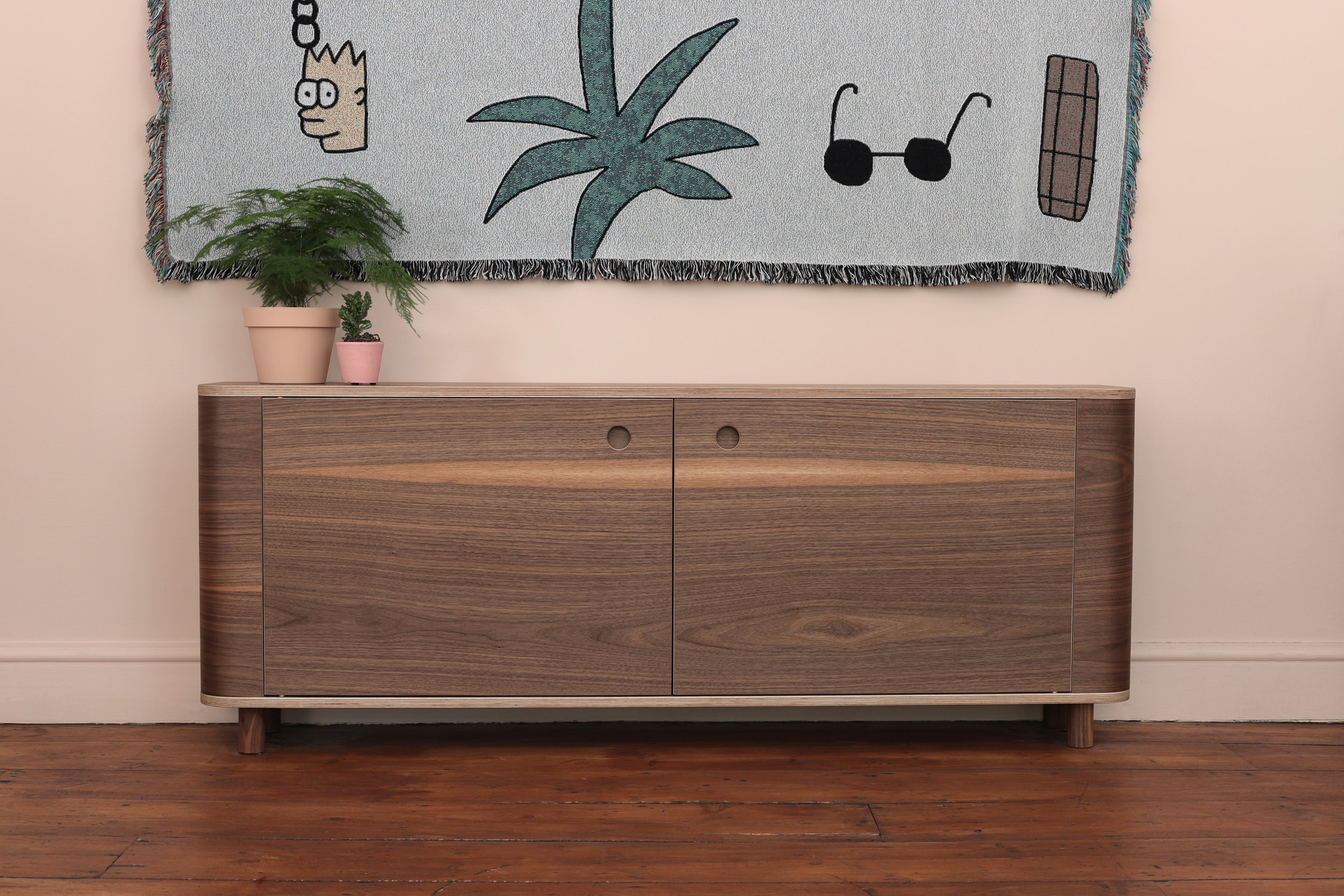 Lozi's bespoke one of a kind sideboard specifically designed for the salon.