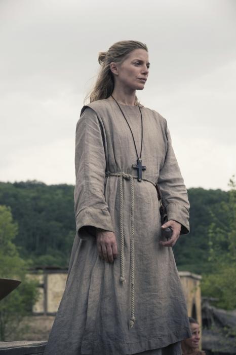 Nun's on the run! Hild (Eva Birthistle) heads north with Uhtred
