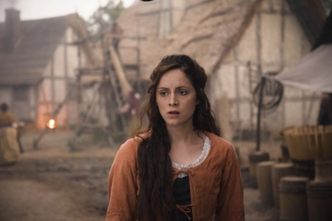Farm girl Alice (Sophie Rundle) has a brutal welcome to Jamestown
