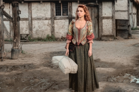 Feisty Verity (Niamh Walsh) fears she's made a mistake coming to Jamestown when she's confronted by Meredith Rutter.