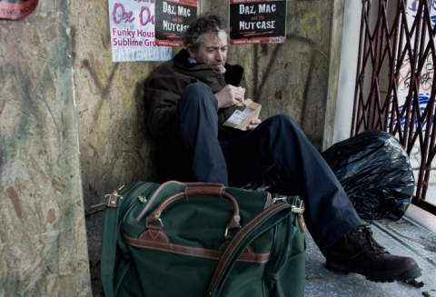 An outcast in the village after his abuse of Sandy is revealed, Ashley is left homeless