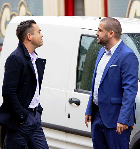 Things escalate when Aidan confronts Billy about his boyfriend's dodgy behaviour…