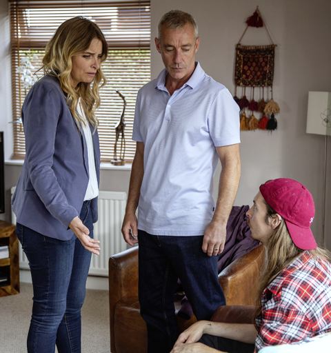 Charity's horrified when she spots Ryan with Mark Bails…