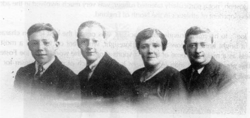 Left to right: James (Rachael' s great-grandfather), John, Mariah and Joseph circa 1910.