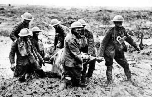 The grim reality, local solders, during the third battle of Ypres.