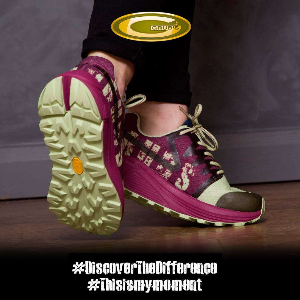 After twelve months of testing the new Discover shoe powered by Vibram has arrived. it is exclusively sold on  www.grubswarehouse.com for the whole of February before being rolled out to selected partners in March.  Here are some of the highlights of this technology packed walking shoe: