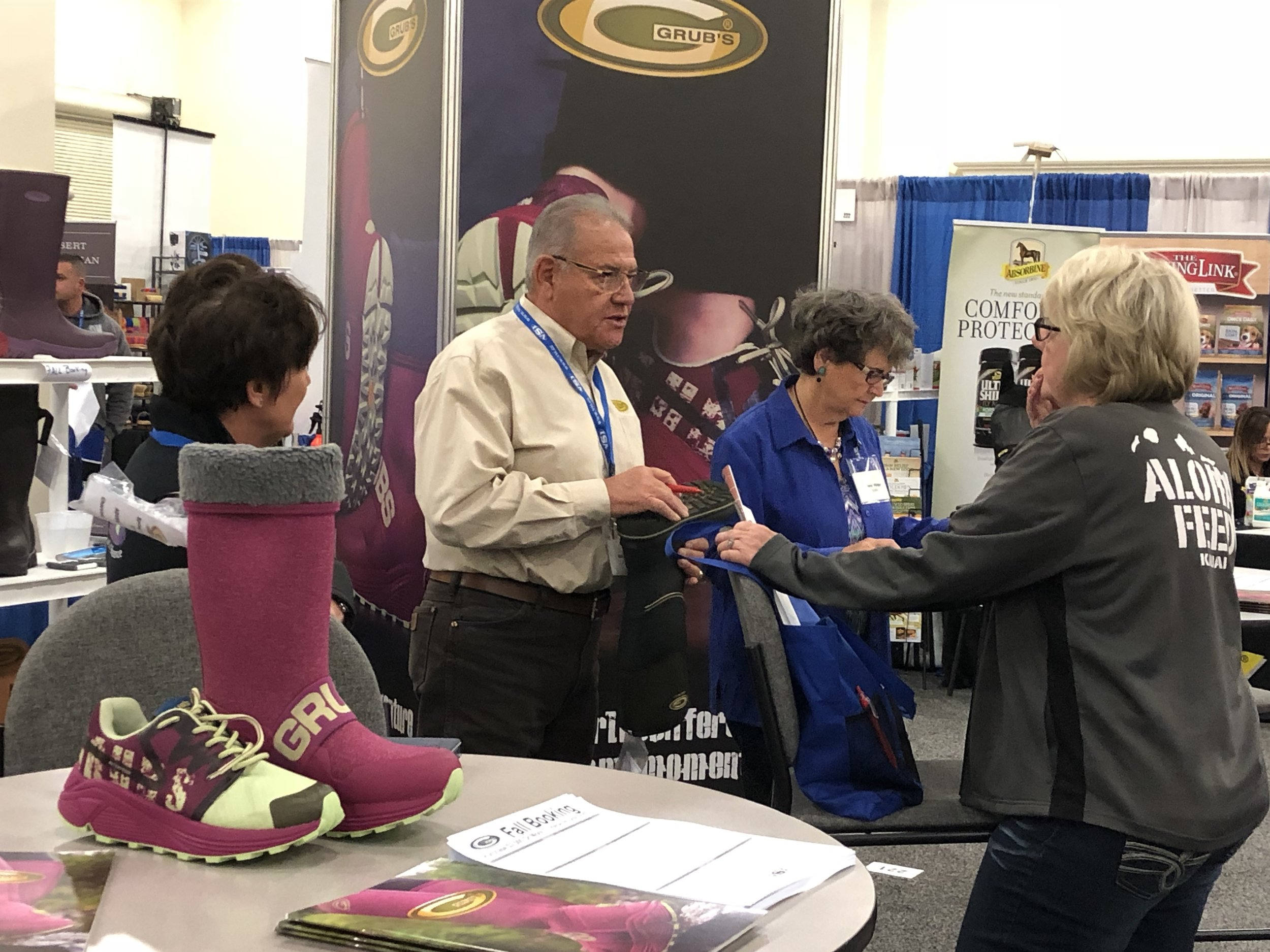 Grubs spotlight booth was a hit with retailers