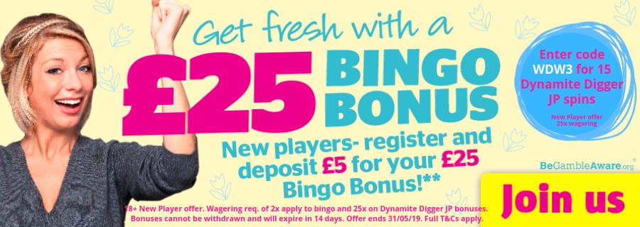 Enter bonus code WDW3 for an extra 15  Dynamite Digger Jackpot  Spins.