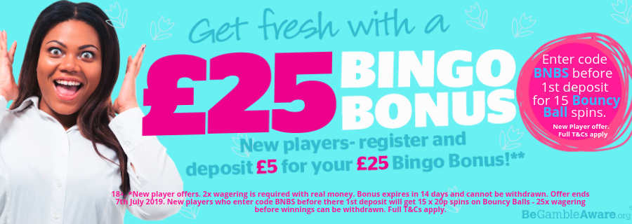 Enter bonus code BNBS before your first depoit for an extra 15 Bouncy Ball Spins.