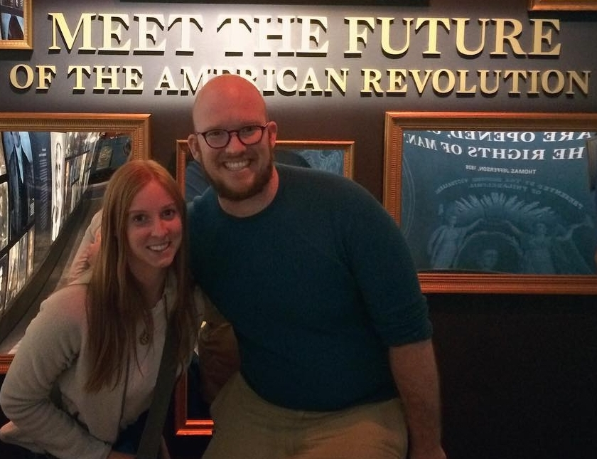 Ellery and me at the Museum of the American Revolution