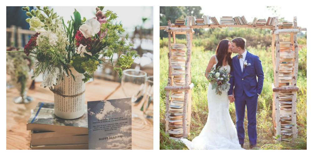 Left:  Marta May  on  Plan Your Perfect Wedding  | Right: Jenny Chang via  Buzzfeed