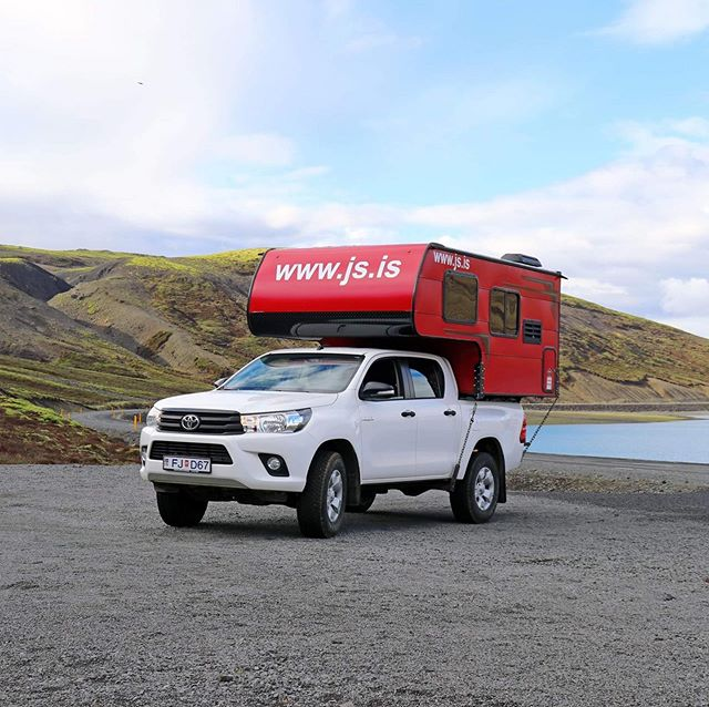 It's a beautiful sunny day here in Iceland! We've added some red campers to our fleet this year, what do you think? 🌞 . . . #jscampers #iceland #icelandcamping #summer #campervan #visiticeland