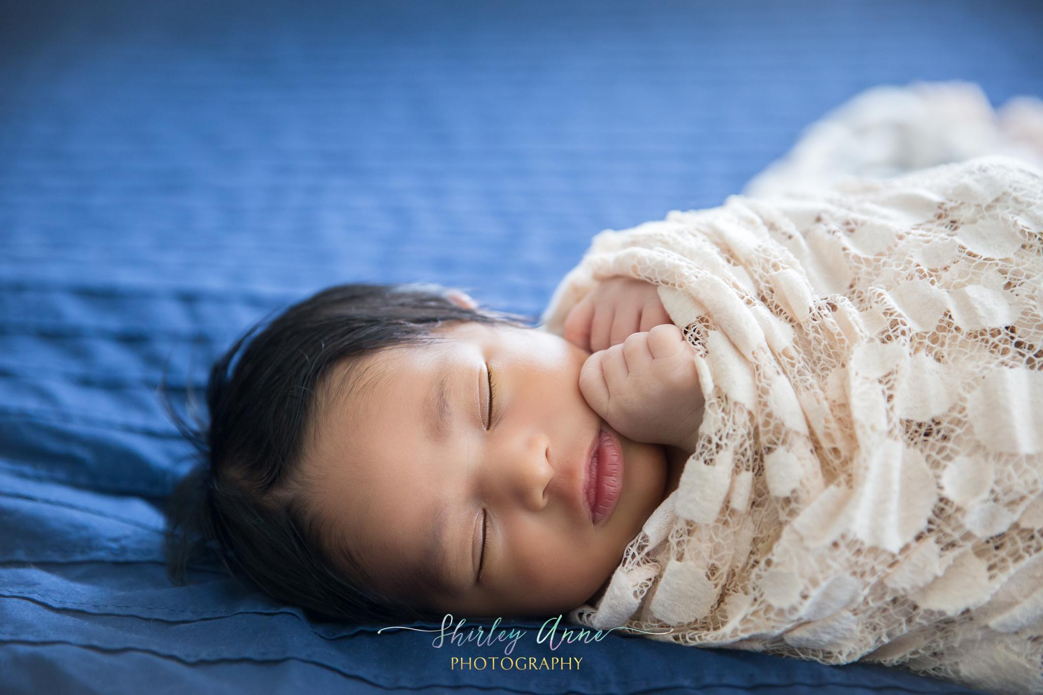 beautiful baby girl newborn at home