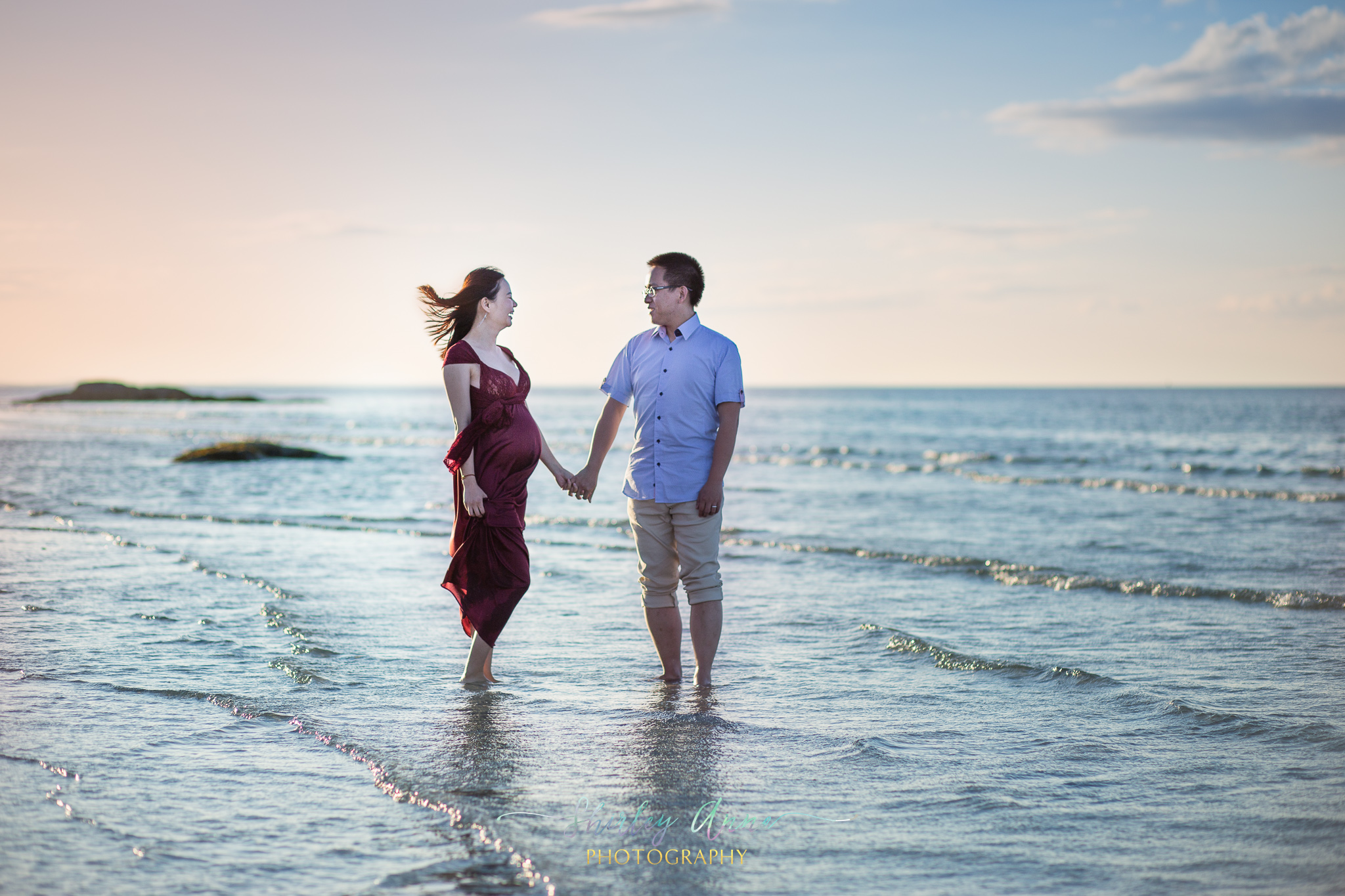maternity session with couple
