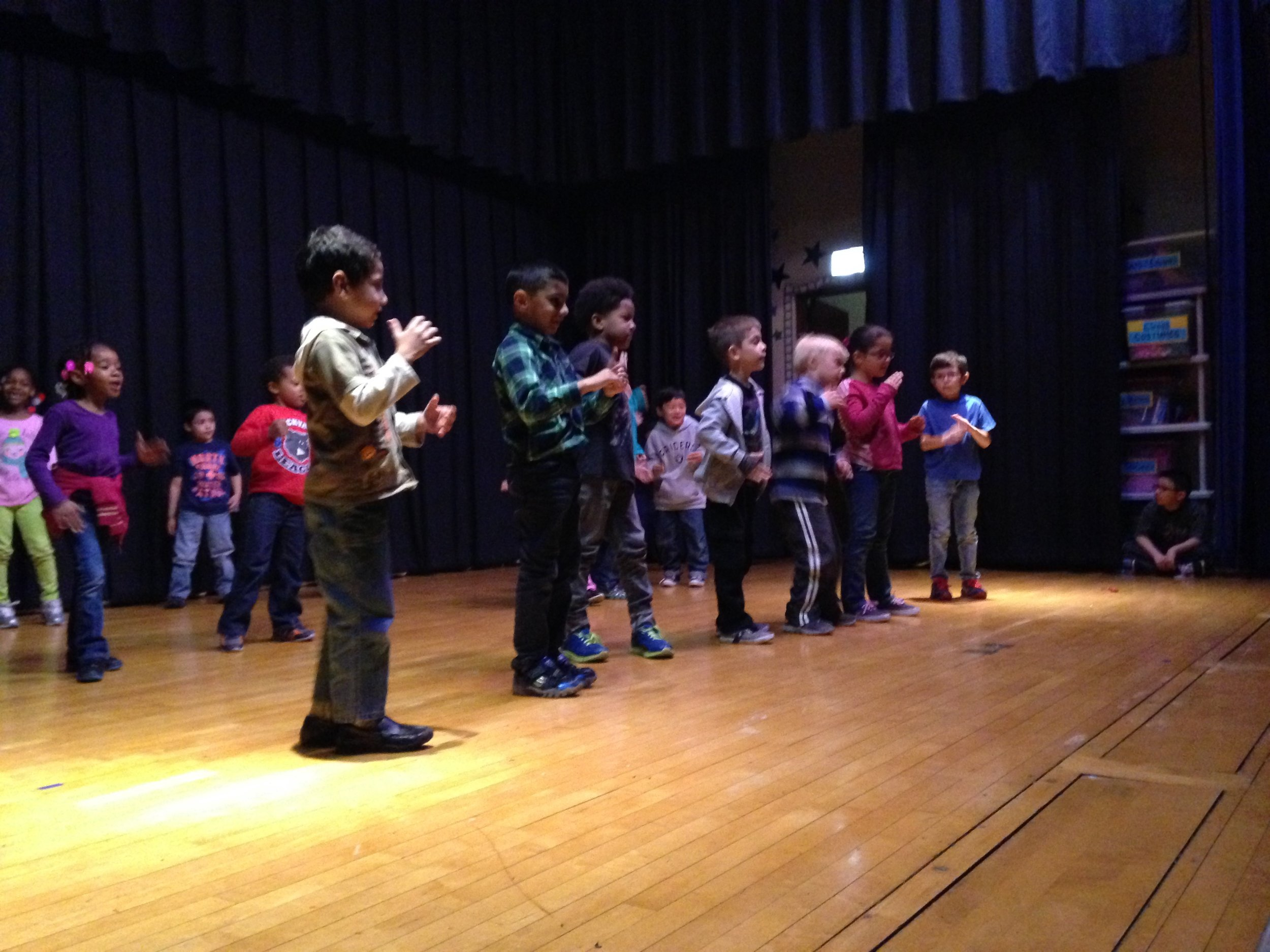 Each year at Rogers School I put over 700 students onstage. This school program was funded by Donna's Good Things: an organization founded by a family who lost their young daughter to cancer, and were committed to sharing the joy of dance which had buoyed their daughter during her illness.