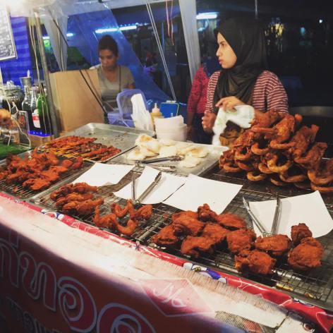 Halal street food at a night market in Krabi (KFC should take out shares)