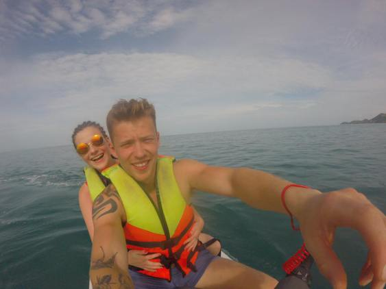 Rent a jet ski.. It was a quarter of the price in Thailand compared to Chicago where I lived for the summer in 2015