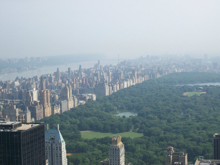 Central Park, New York City from the top of the Rockefeller Centre in 2011