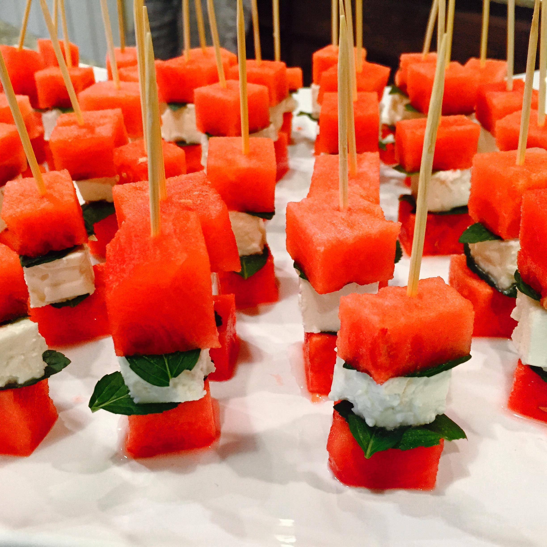 Watermelon Feta Mint Picks