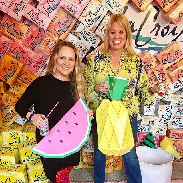 Loving the #lacroix 🍋booth @createcultivate  #sxsw 🍐what a fun 🍎day in Austin 🍒