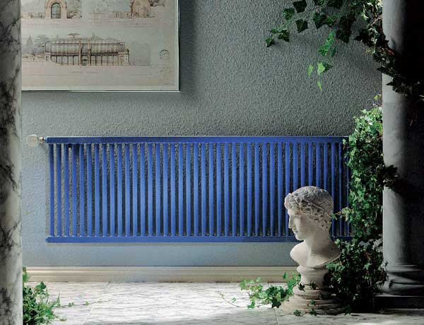 This modern wall mounted radiator is sleek and easy to clean around.