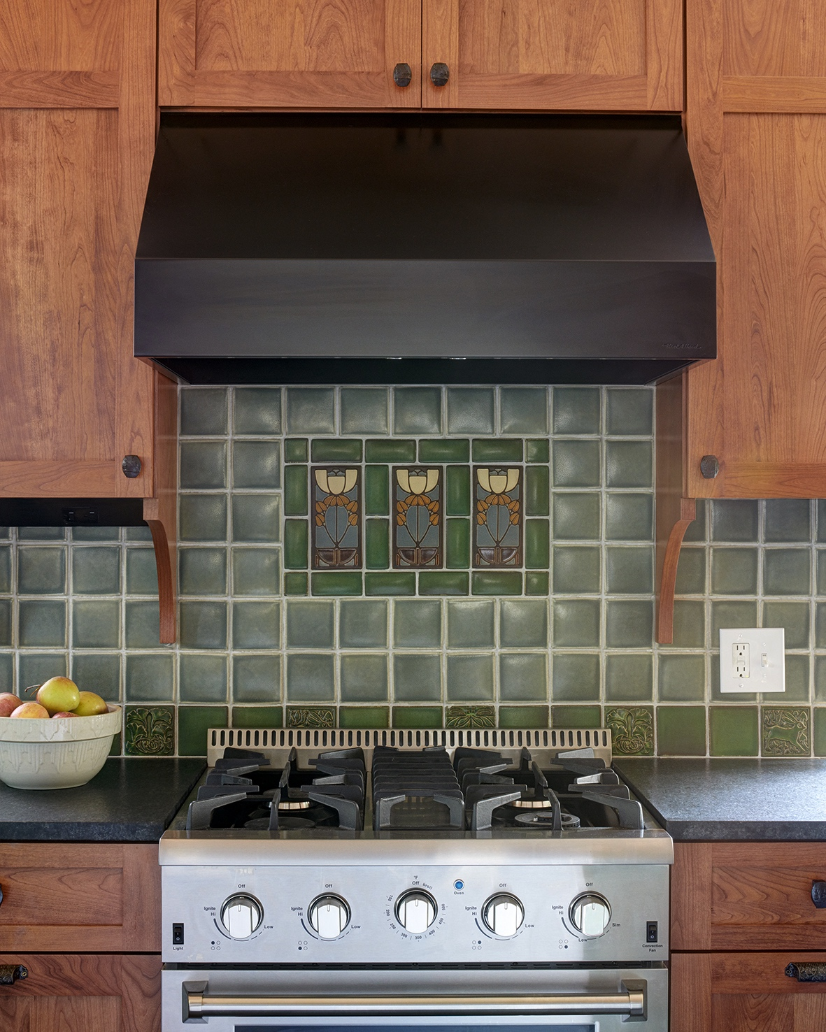 This new craftsman tile is being made the same way it was a century ago. See more of this kitchen  here .