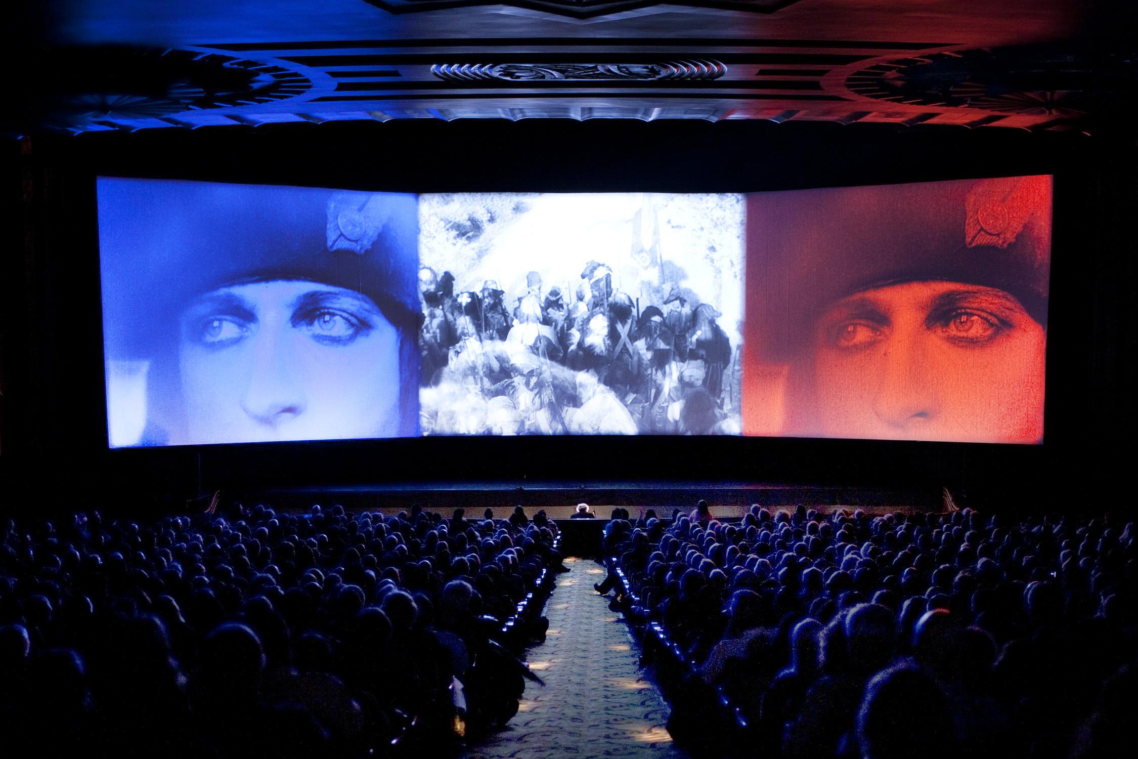 Abel Gance's  Napoléon  at the Paramount Theatre Oakland, 2012. (Photo by Pamela Gentile, courtesy of San Francisco Silent Film Festival.)