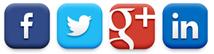 Social Media Graphic - Facebook, Twitter, Google Plus, Linked In