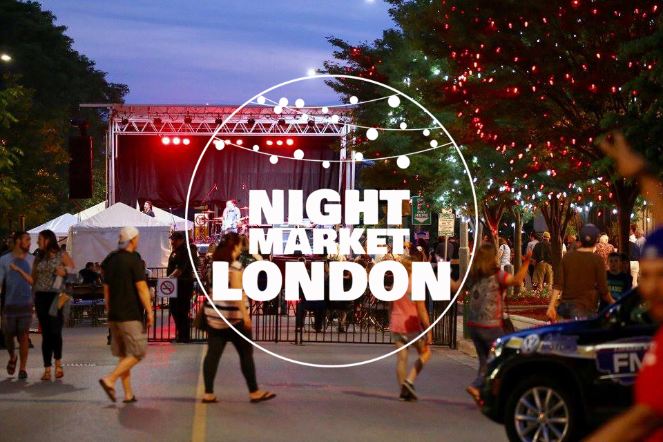 Night Market London - Sunday, June 30th 7:00pm-11:00pmDowntown London(Dundas Place, Talbot Street, and Covent Garden Market Square)Start your Canada Day celebrations off early by joining the London Heritage Council for our new evening market featuring live music, beer garden, food trucks, and local artisans. Enjoy the local flavour that makes the Forest City so unique while also celebrating Canada's rich, multicultural heritage. All Ages & Free Admission!