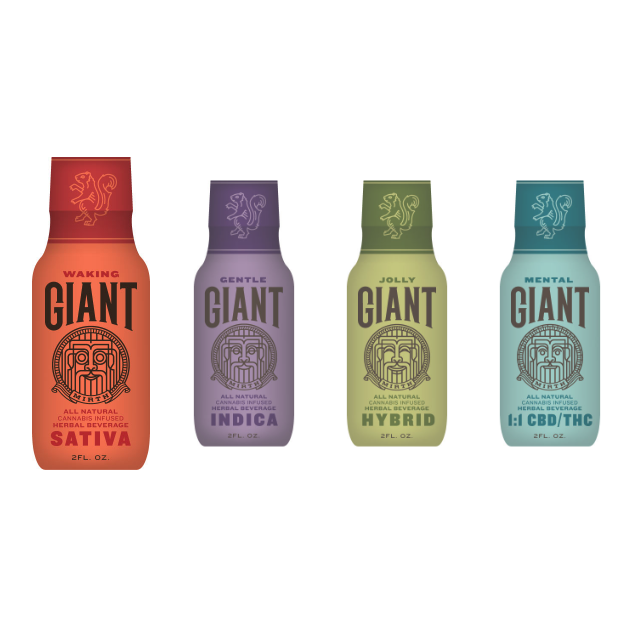 Giant by Mirth - Powerful botanicals align with the natural terpenes of your favorite cannabis strains to create a harmonic convergence of mind and body.Image via mirthprovisions.com