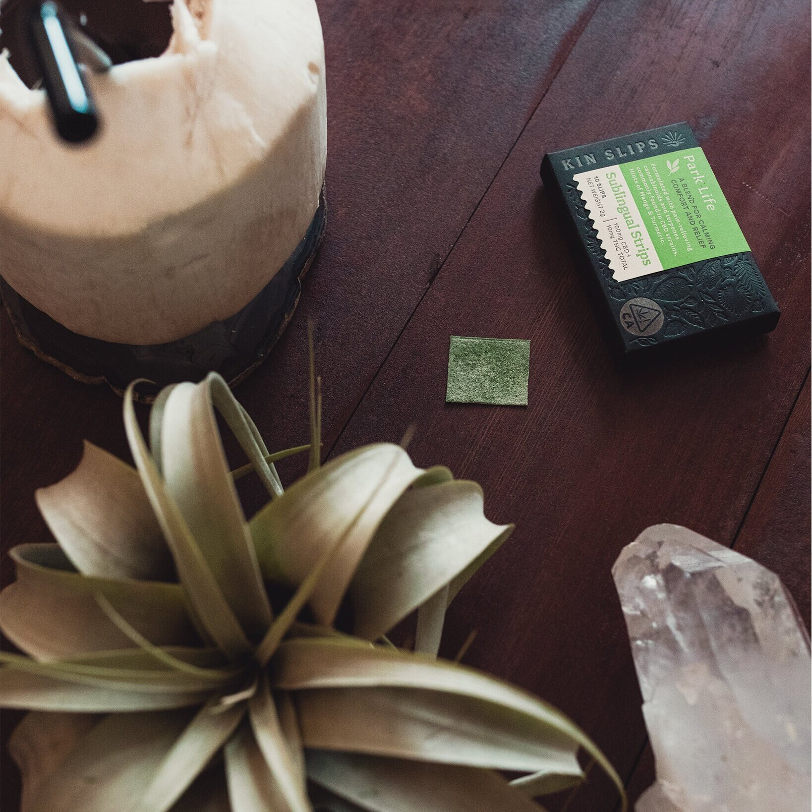Kin Slips Sublingual Strips - I couldn't post this blog without mentioning our own product. Kin Slips dissolve under your tongue and start working in about 10 minutes. Blends available for creativity, relaxation, and relief.