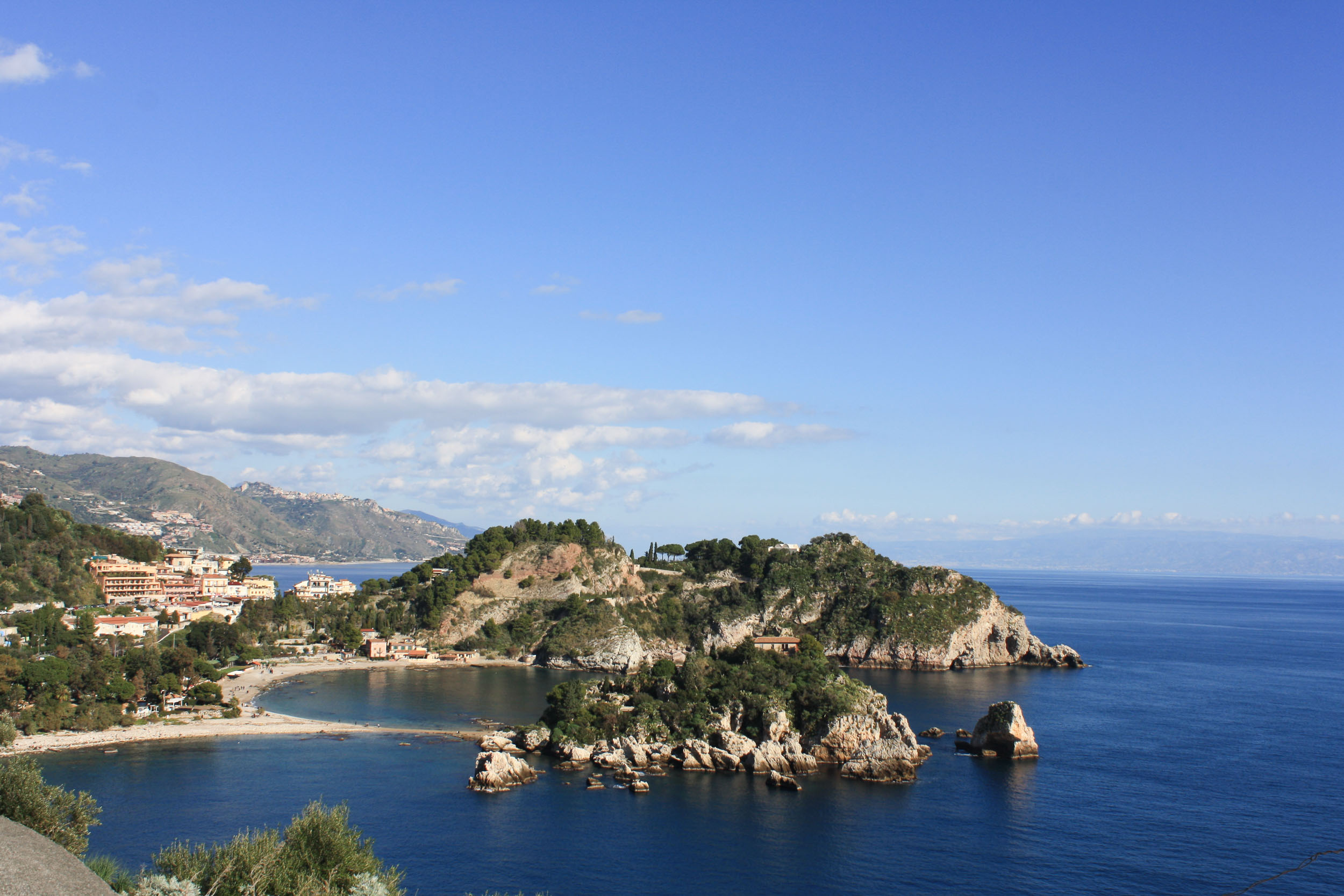 View from La Prora towards Isola Bella
