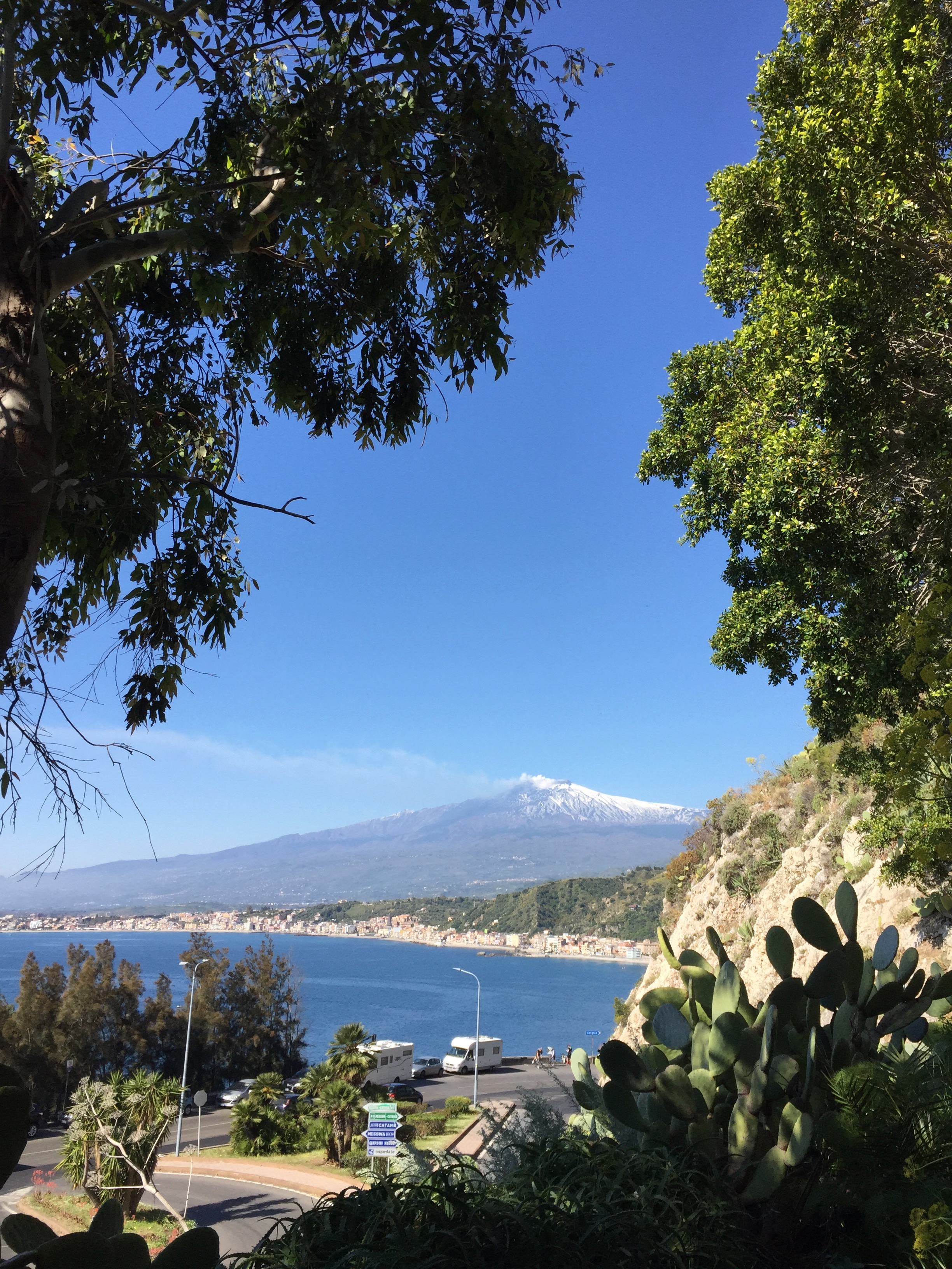 Etna view from the garden